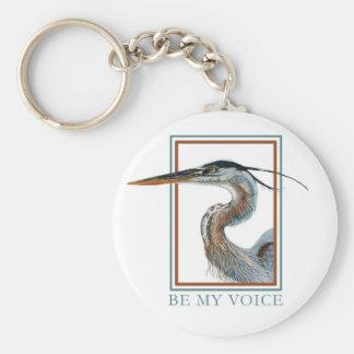 Great Blue Heron by Jane Freeman Basic Round Button Key Ring