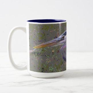 Great Blue Heron Challenge Two-Tone Mug
