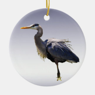 Great Blue Heron Christmas Ornament