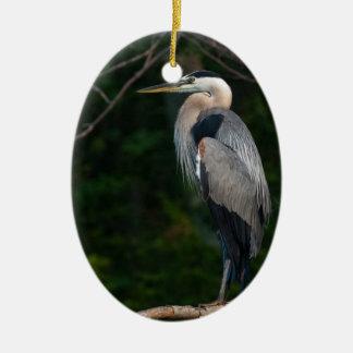 Great Blue Heron Christmas Ornament