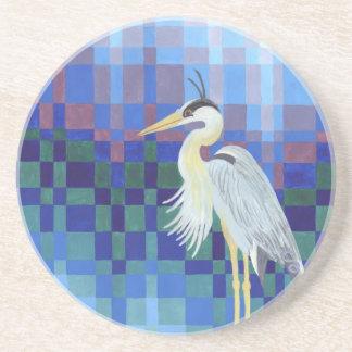 Great Blue Heron Beverage Coasters