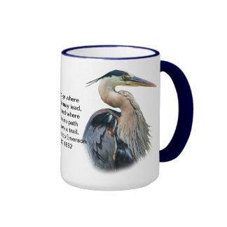 Great Blue Heron Customizable Mug