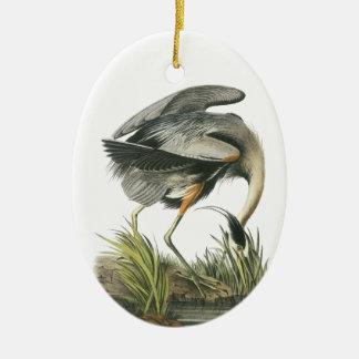 Great Blue Heron, John Audubon Christmas Ornament