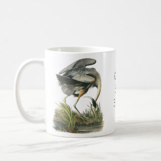 Great Blue Heron, John Audubon Coffee Mug