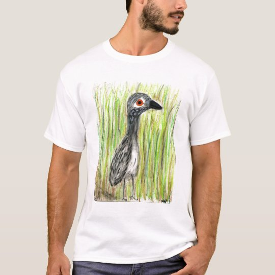 great blue heron juvey in the reeds T-Shirt