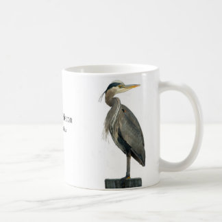 Great Blue Heron Basic White Mug