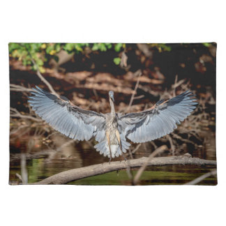 Great Blue Heron on a log Placemat