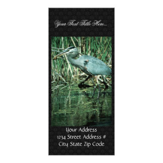 Great Blue Heron Rack Card Design