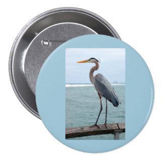Great Blue Heron Round Button
