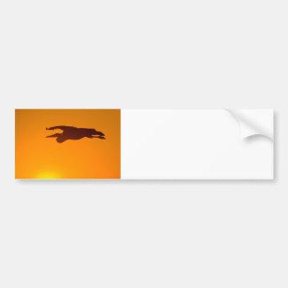 Great Blue Heron Sunset Bumper Sticker