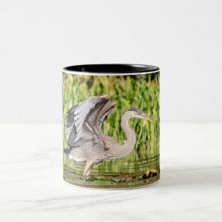 Great Blue Heron Two-Tone Coffee Mug