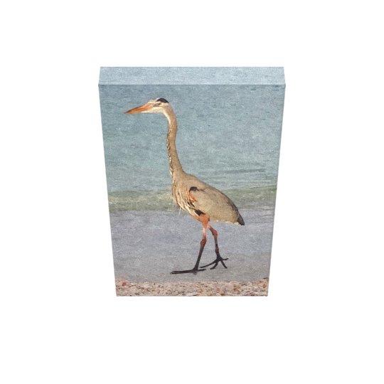 Great Blue Heron Watercolor Canvas Print