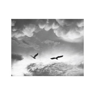 Great Blue Herons After The Storm Canvas Print