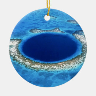 GREAT BLUE HOLE 2 CHRISTMAS ORNAMENT