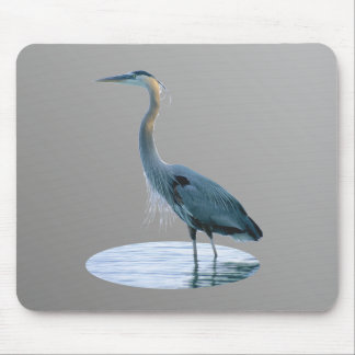 Great Blue Standing Tall Mouse Pad