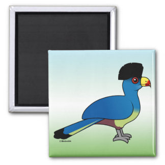 Great Blue Turaco Square Magnet