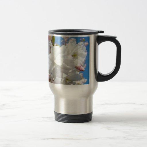 Great Boss! Travel Coffee Mugs White Blossoms
