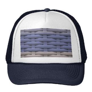 great braided basket,blue stripes cap