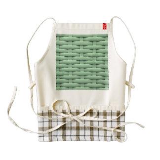 great braided basket green