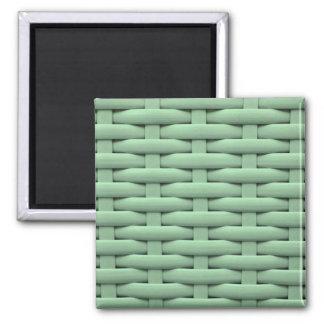 great braided basket green fridge magnets