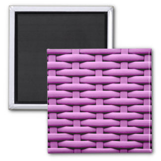 great braided basket, pink refrigerator magnet