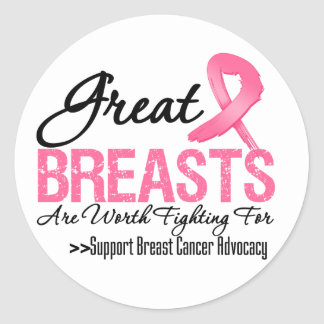 GREAT Breasts Are WORTH Fighting For (G2) Round Sticker