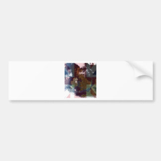 Great Bretain from Space and Flag. Bumper Sticker