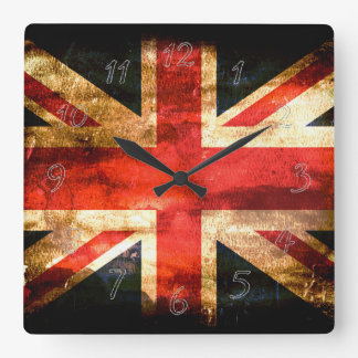 Great Britain blue red white Square Wall Clock