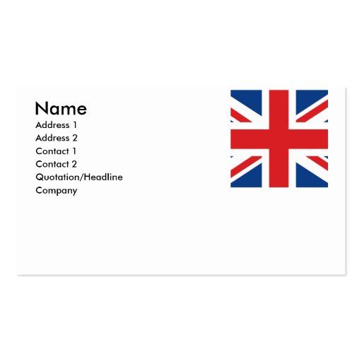 Great Britain Business Card Template