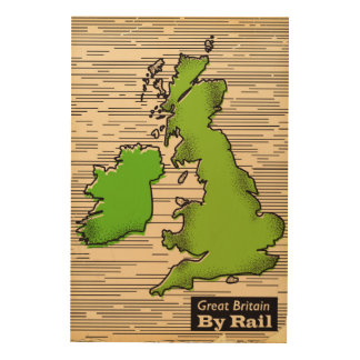 Great Britain By Rail travel poster