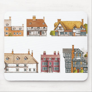 Great Britain. Countryside houses Mouse Mat