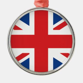 Great Britain Silver-Colored Round Decoration