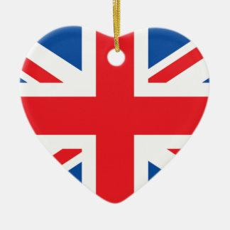 Great Britain Ceramic Heart Decoration