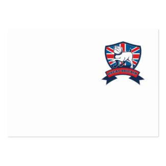 Great Britain English bulldog team shield Business Card