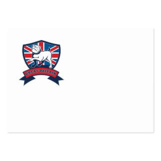 Great Britain English bulldog team shield Business Card Templates
