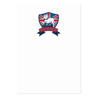 Great Britain English bulldog team shield Business Cards