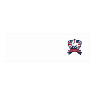 Great Britain English bulldog team shield Business Card Template
