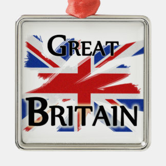 Great Britain - faded flag Christmas Tree Ornaments