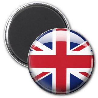 Great Britain Flag 6 Cm Round Magnet