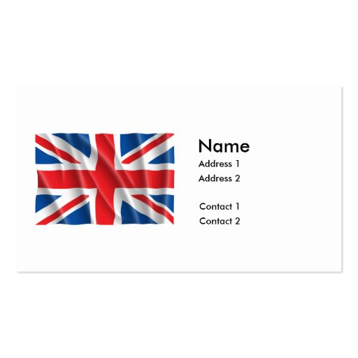 GREAT BRITAIN FLAG BUSINESS CARD TEMPLATE