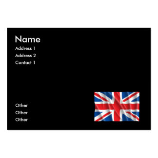 GREAT BRITAIN FLAG PACK OF CHUBBY BUSINESS CARDS