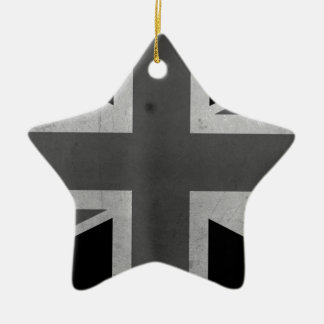 Great Britain Flag BW Christmas Tree Ornaments