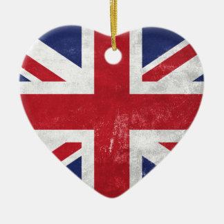Great Britain Flag Ceramic Heart Decoration