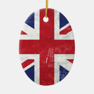 Great Britain Flag Ceramic Oval Decoration