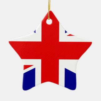 Great Britain Flag Ceramic Star Decoration