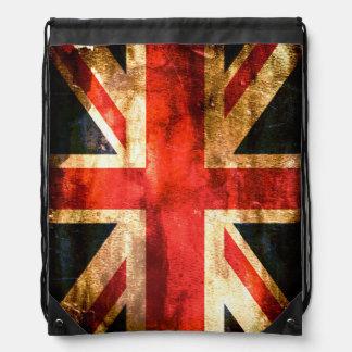 Great Britain flag Drawstring Bag