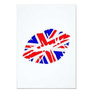 Great britain flag kiss 9 cm x 13 cm invitation card
