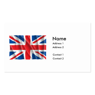 GREAT BRITAIN FLAG PACK OF STANDARD BUSINESS CARDS