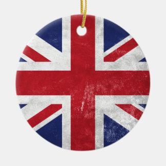Great Britain Flag Round Ceramic Decoration