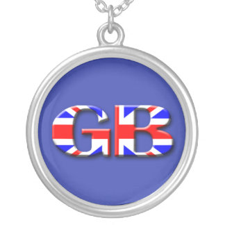 Great Britain Flag Silver Plated Necklace